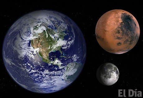 Marte y la Luna jamás podrán verse del mismo tamaño <BR>