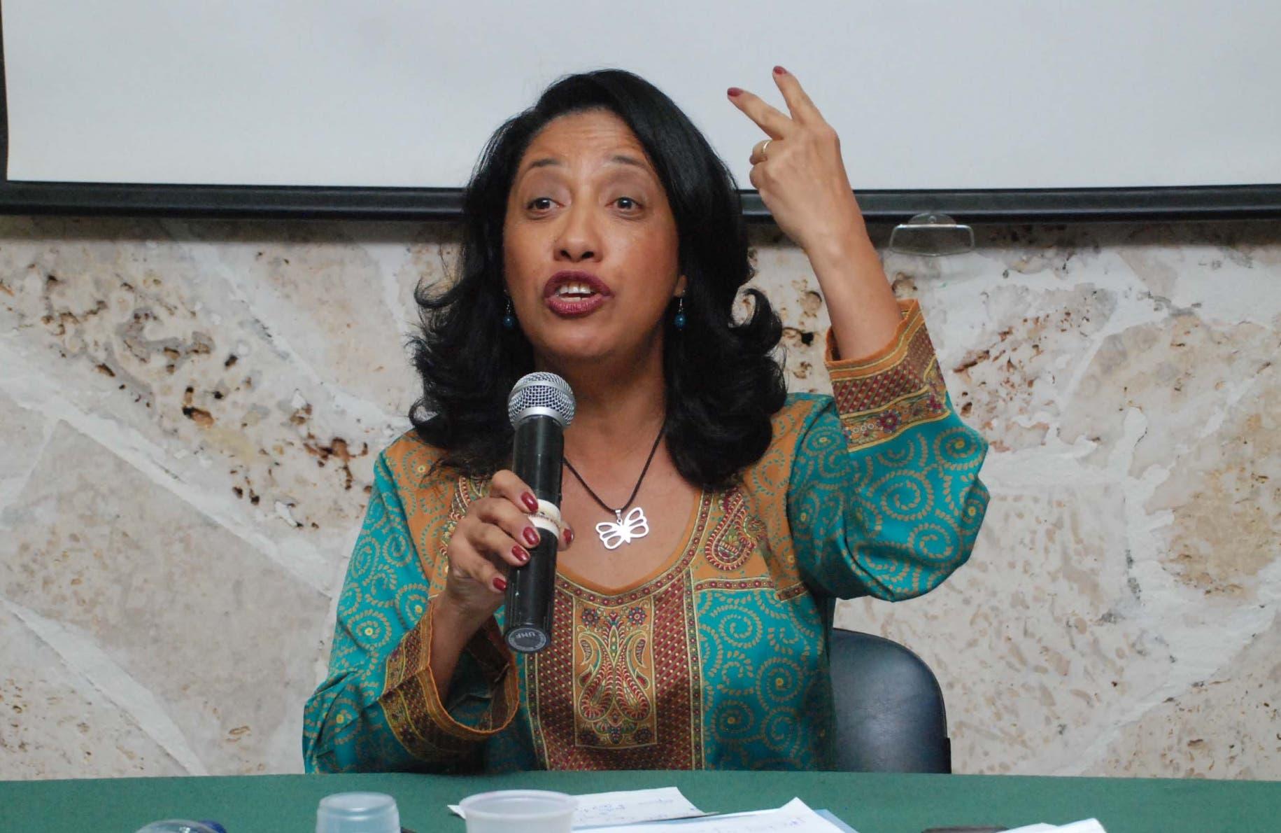 Diputada Guadalupe Valdez, diputada por la APD