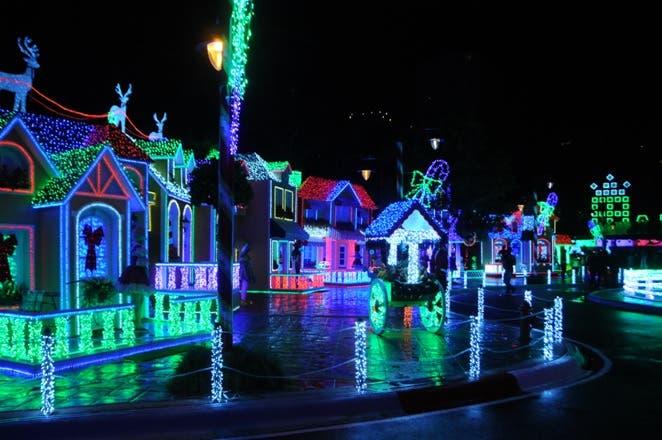 El parque cuenta  con 27 millones de luces  distribuidas  en más de 400 árboles