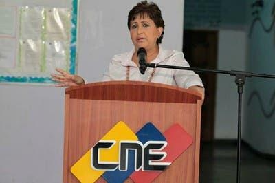 Tibisay Lucena, presidenta del Consejo Nacional Electoral (CNE). Foto de archivo.