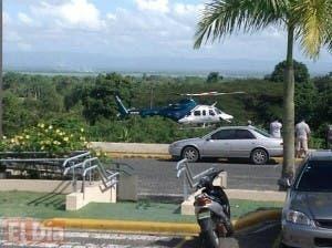 Helicóptero de Aero Ambulancia llegando al hospital traumatológico profesor Juan Bosch, en La Vega. Foto: Fuente externa.