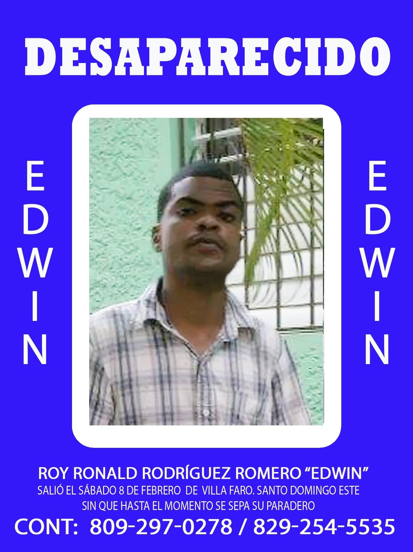 Edwin, desaparecido