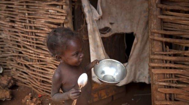 La falta de alimentos perjudica en mayor grado a los niños en el noroeste de Haití (Foto: AP).