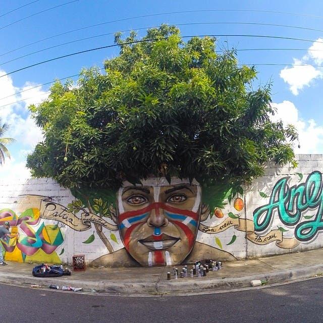 el arte brota en las caller de rd con los graffitis de gabriel abreu