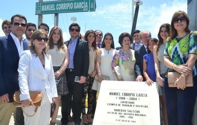 Calle del sector la Esperilla llevara el nombre de Manuel Corripio Garcia Padre del Empresario Pepin Corripio Estrada. foto: Eliser Tapia