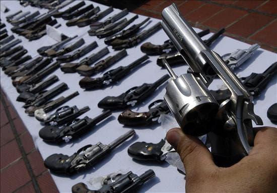 Autoridades destruirán armas de fuego recuperadas en plan de seguridad