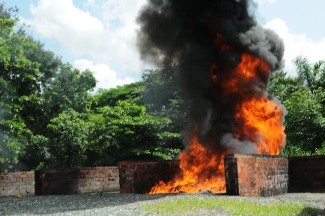 Drogas incinerada Procuraduría