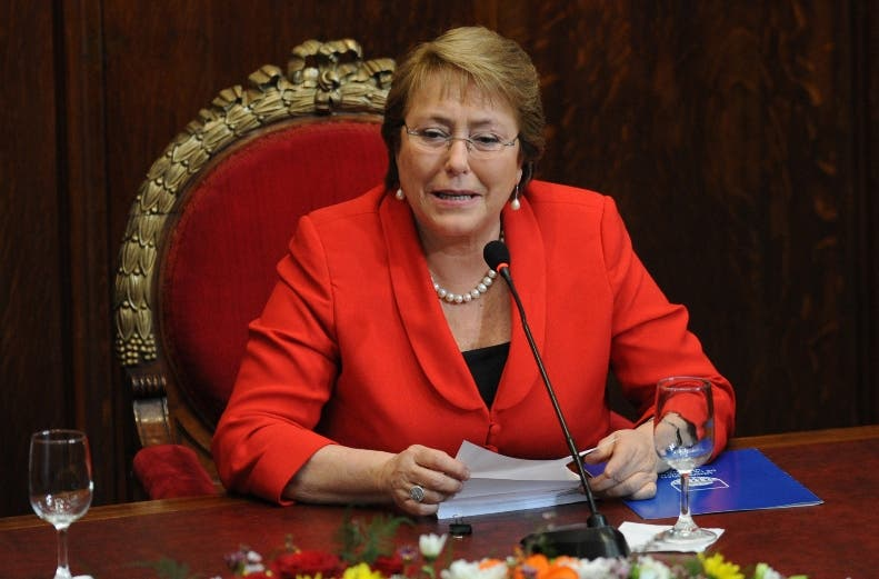 URUGUAY-CHILE-BACHELET