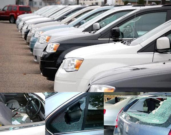 En Washington Heights rompen más de 50 vehículos para robar en su interior