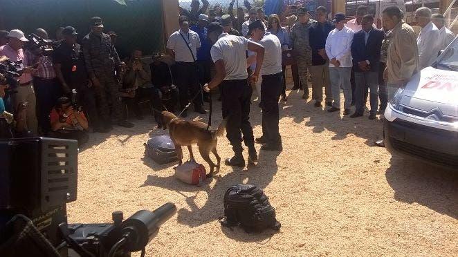 DNCD inaugura unidad canina K9 en puerto de Cabo Rojo, Pedernales