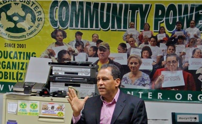 Luis Tejada es fundador y director del Centro Cultural y Comunitario Hermanas Mirabal.