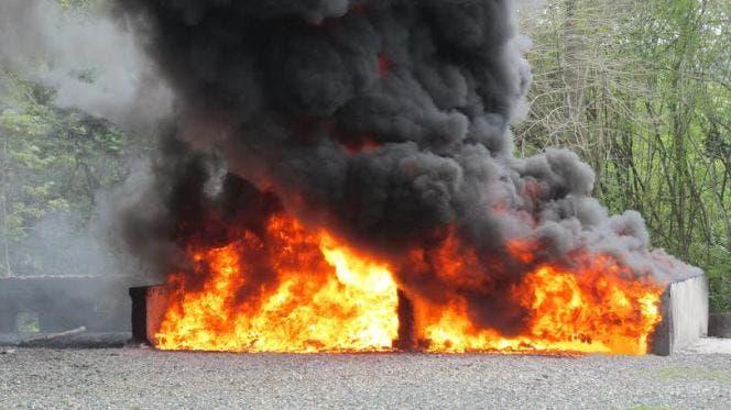 Incineran más de 1,200 kilos de drogas,incluyendo cargamento decomisado en Caucedo