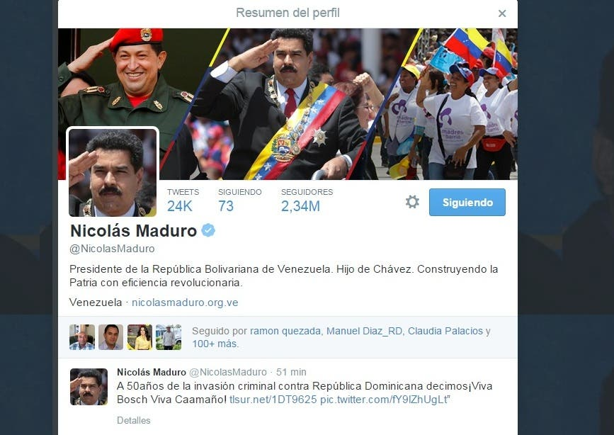 Nicolás Maduro se solidariza con República Dominicana en 50 aniversario Revolución de Abril
