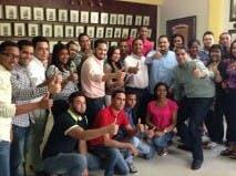Foto de dirigentes de la Juventud en Moca