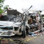 Trece muertos y 18 heridos deja accidente. Entre las víctimas hay ocho mujeres (una embarazada) y cinco hombres, entre los que se incluye un menor de diez años.