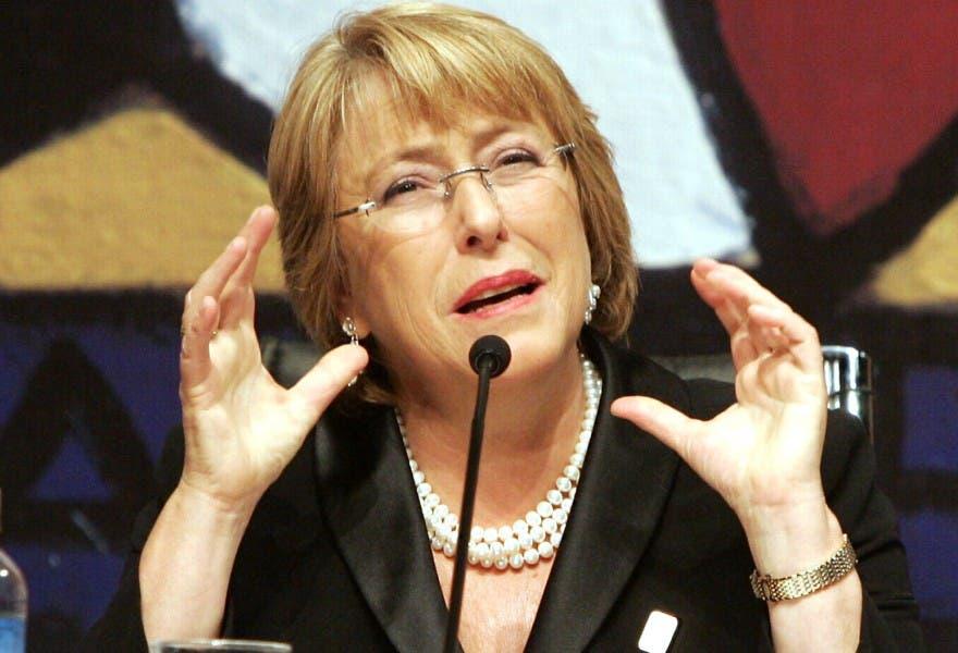 Michelle Bachelet, presidenta de Chile.