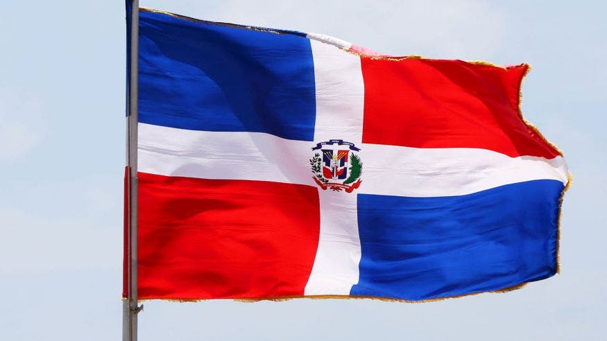 Bandera de la República Dominicana.