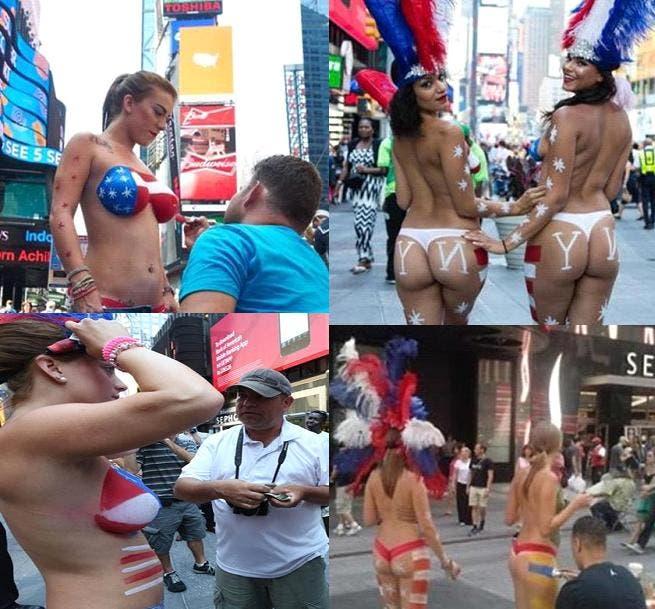 Desnudas frente al consulado