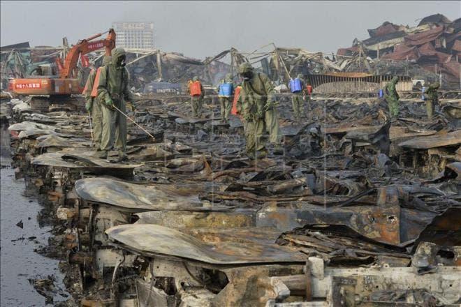 Continúan incendios en Tianjin, asciende a 116 la cifra muertos