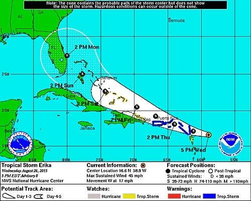 ONAMET emite alerta de tormenta tropical  desde Cabo Engaño hasta Cabo Francés