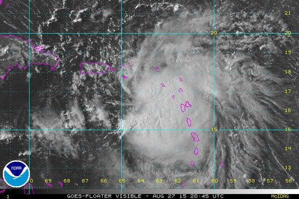 Meteorología emite aviso por tormenta tropical Erika