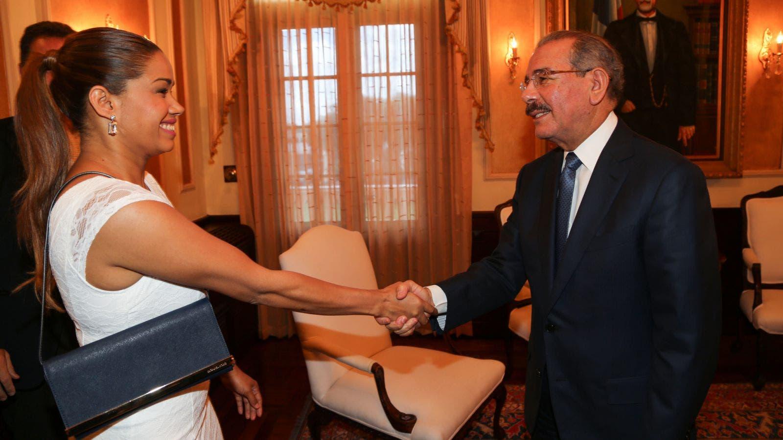 María Marte y Danilo Medina
