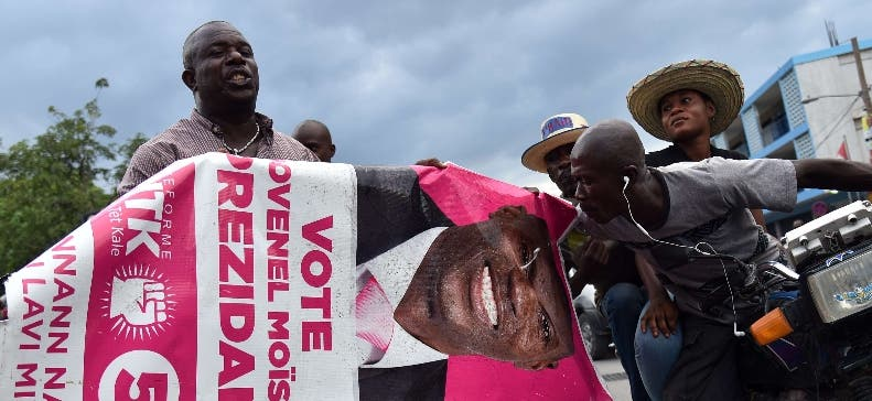 HAITI-VOTE-LECTIONS-PROTEST