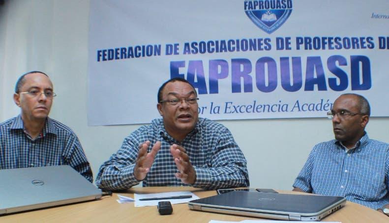 Faprouasd realizará una parada cívica esta tarde frente al Palacio Nacional