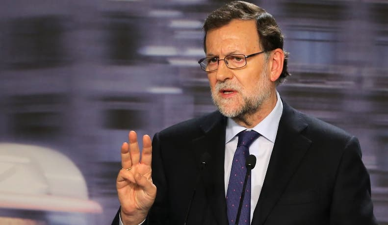 Spanish incumbent Prime Minister Mariano Rajoy speaks during a press conference after the national executive meeting of the Popular Party in Madrid on December 21, 2015. Spain's Prime Minister Mariano Rajoy faced an uphill battle to stay in power on Monday after his conservatives lost their majority in an election that saw dynamic new political groupings end decades of two-party rule.   AFP PHOTO/ CESAR MANSO
