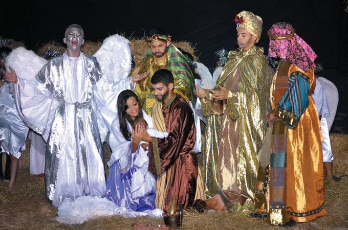 Image result for nacimiento navideño en iglesia dominicana