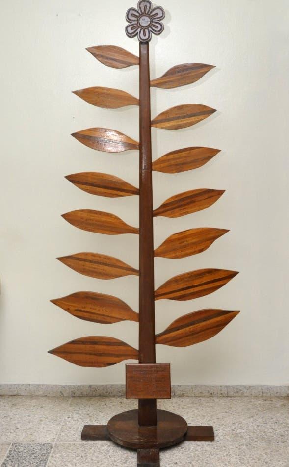 Muestrario de madera de Balaguer, parte de atractivos del Jardín Botánico