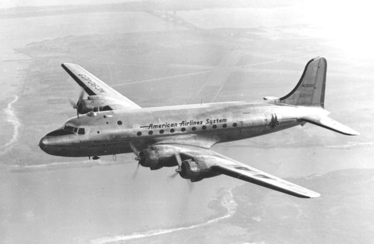 Avión DC4 en que perecieron los integrantes del equipo de Santiago, tragedia de Río Verde