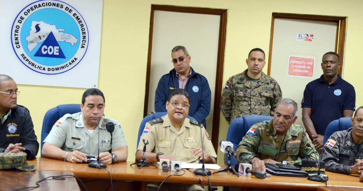 Resultado de imagen para Coe informa sobre desplazados por huracan Irma en RD