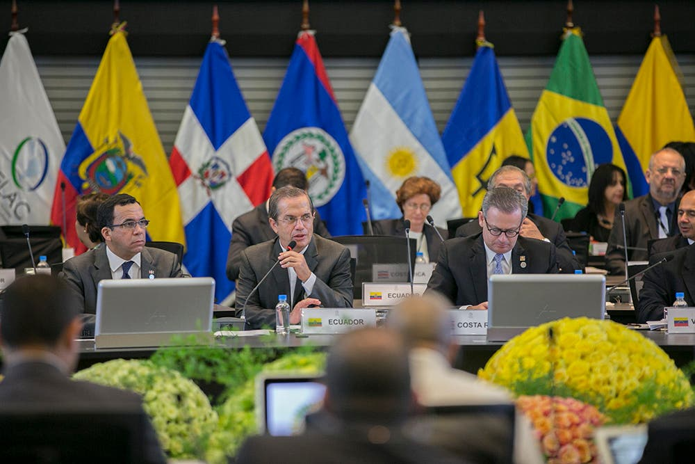 Quito (Ecuador), 26 de enero de 2016. El Canciller Ricardo Patiño inaugura la IX Reunión de Ministros de Relaciones Exteriores de la CELAC.  Foto: Luis Astudillo C. / Cancillería