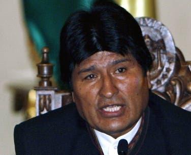 Evo Morales .