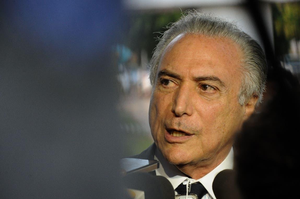 El vicepresidente brasileño Michel Temer