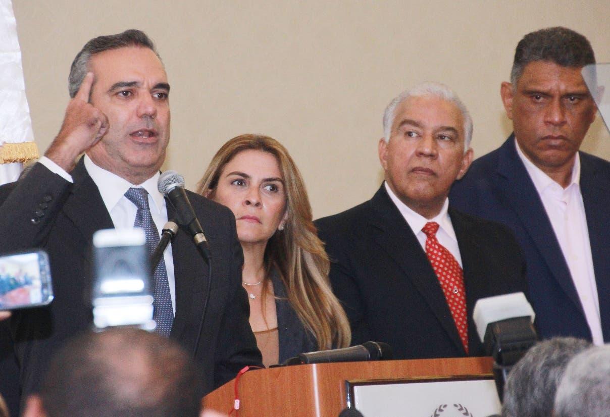 El candidato del Partido Revolucionario Moderno (PRM), Luis Abinader. Foto: Elieser Tapia