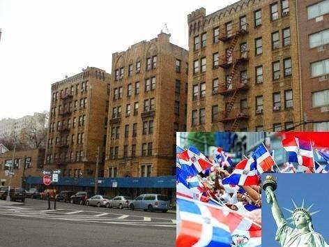 Vecindario donde residen cientos de dominicanos en Nueva York.