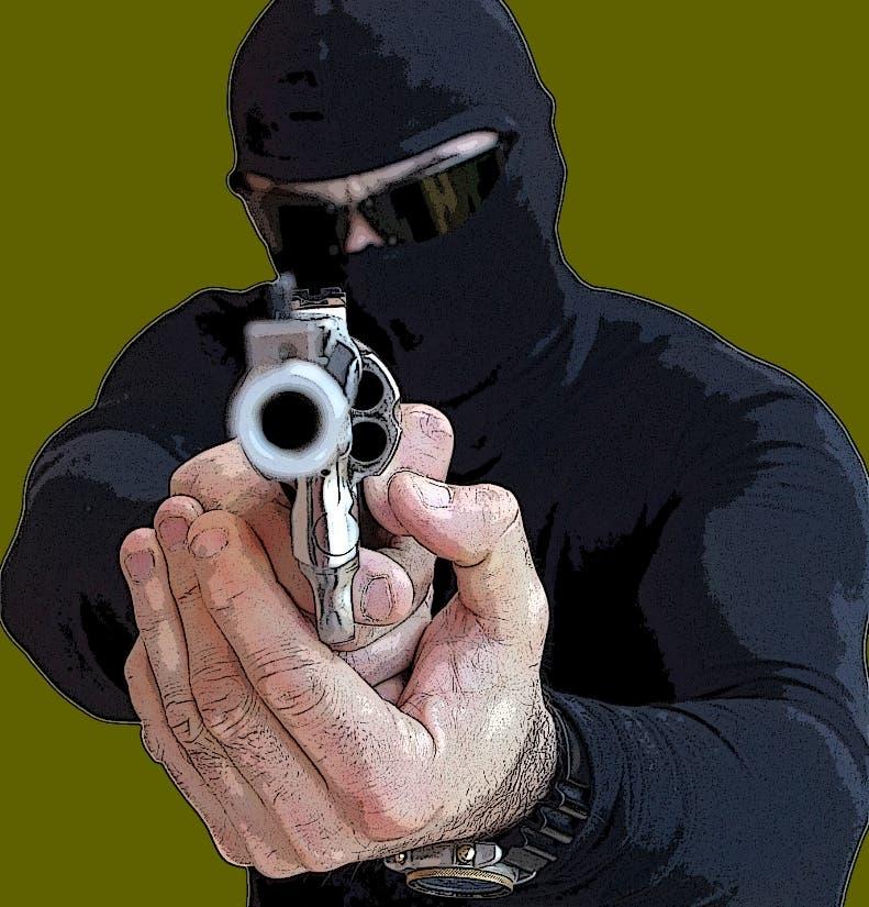 Ilustracion de Asalto, robo o atraco con arma de fuego Shutterstock/ElNacional 25/10/09