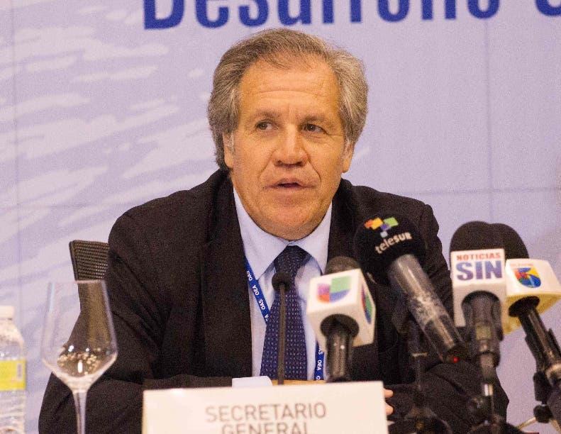 """""""Tenemos 7,5 millones de razones para pedir que no se instale"""", agregó Almagro, en referencia a quienes votaron en Venezuela contra la medida."""