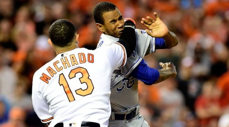 Ventura es suspendido 9 juegos y Machado 4 por pelea