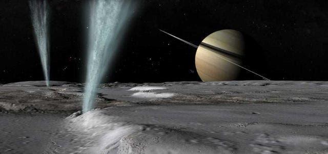 Resultado de imagen de La luna Encelado de Saturno