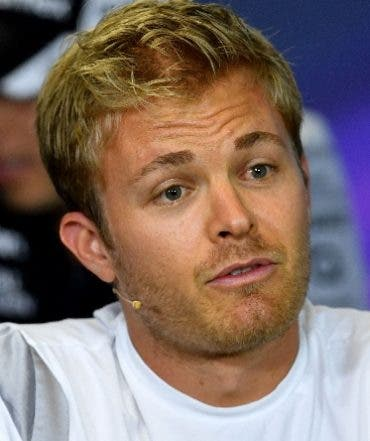 Mercedes AMG Petronas F1 Team's German driver Nico Rosberg gestures during a press conference at the Formula One Hungarian Grand Prix at the Hungaroring circuit near Budapest, on July 21, 2016.  AFP PHOTO / ANDREJ ISAKOVIC / AFP / ANDREJ ISAKOVIC