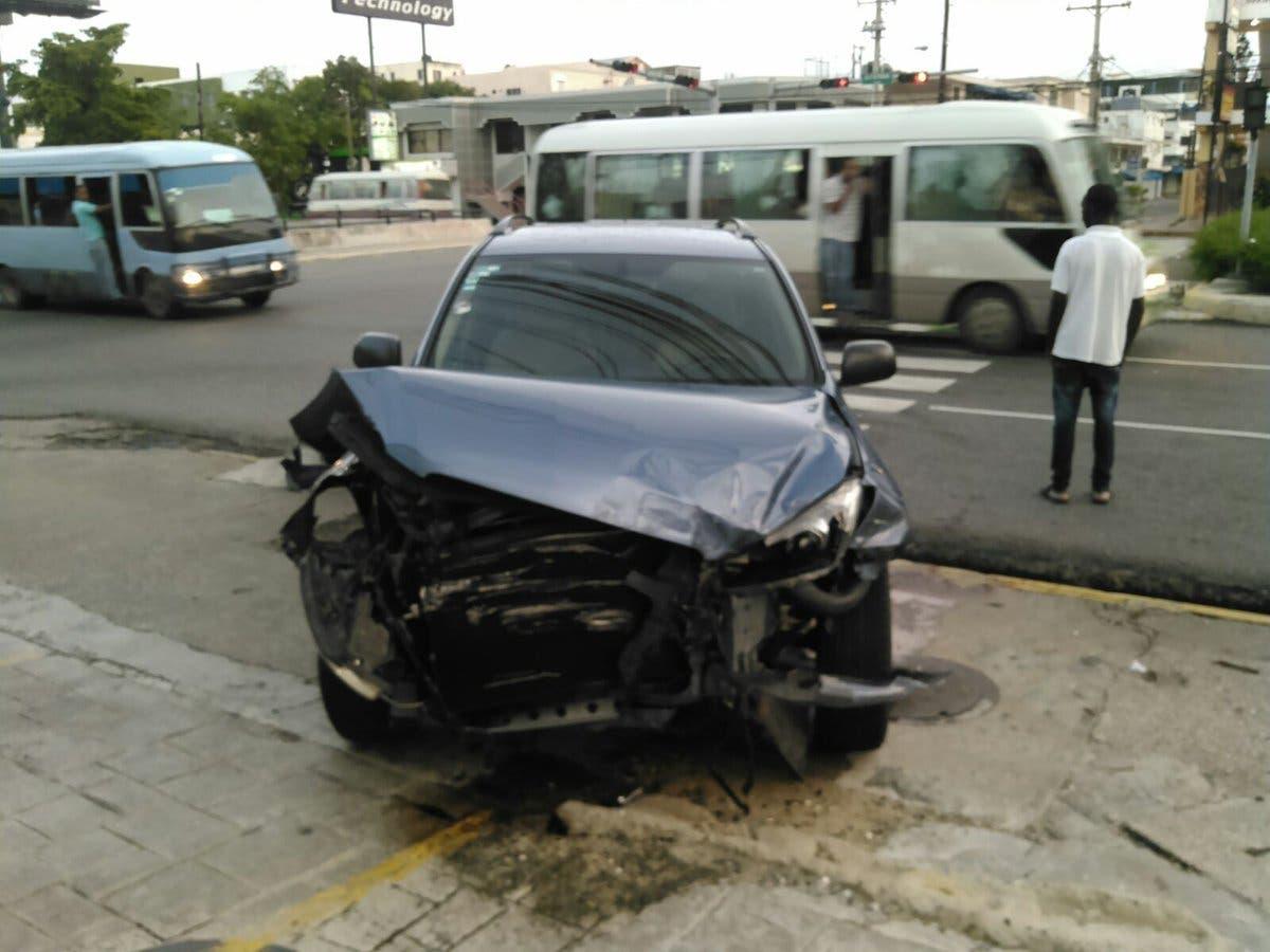 En estas condiciones quedó el vehículo de Febles.