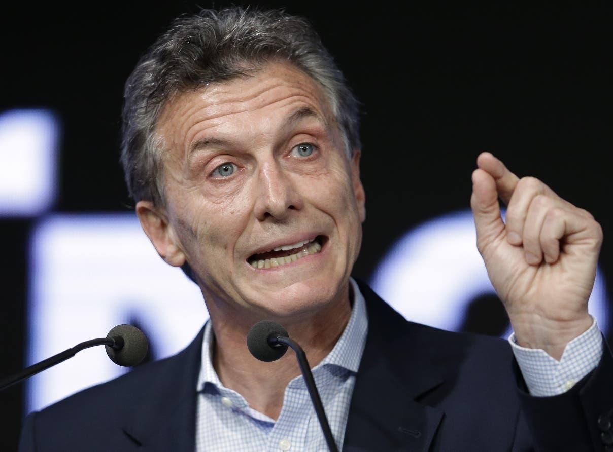 Mauricio Macri, presidente de Argentina.aP