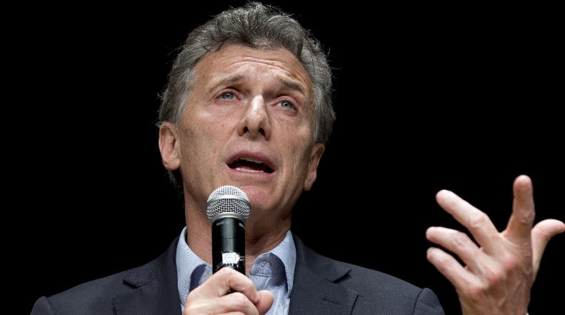 El presidente de Argentina, Mauricio Macri. AP