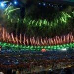 Los fuegos artificiales cerraron una espectacular ceremonia de apertura.