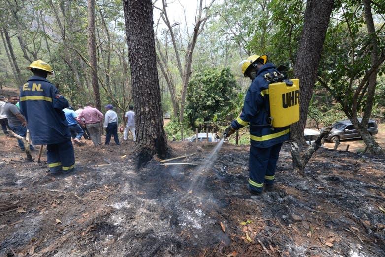 Medio Ambiente extingue incendio  forestal en San José de las Matas