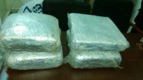 DNCD incauta 95 libras de marihuana en San Juan de la Maguana y Barahona
