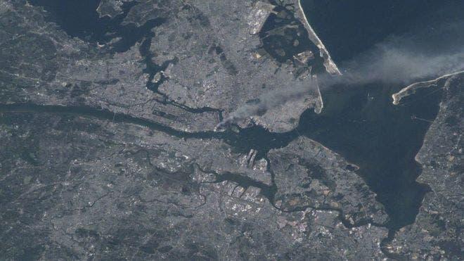 Cómo se vio desde el espacio el ataque a las Torres Gemelas del 11 de septiembre